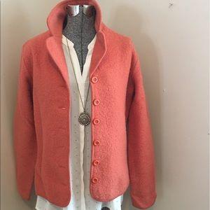 Vintage Chadwick's Button Tangerine Wool Jacket